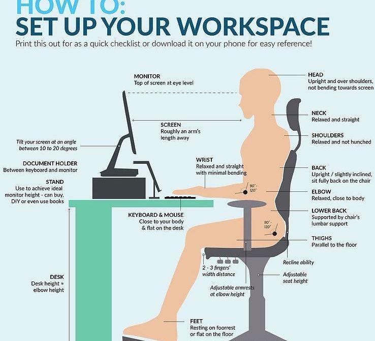 ergonomic workstation setup